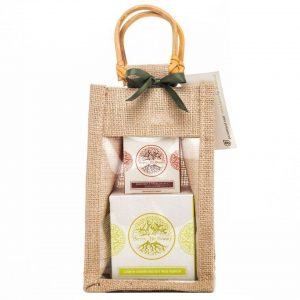Lime & Ginger Essential Oil Candle and Bergamot & Sweet Orange Hand Cream Gift Set