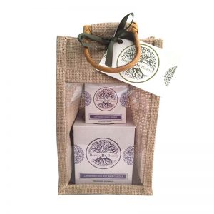 Lavender Essential Oil Candle & Handcream Gift Set