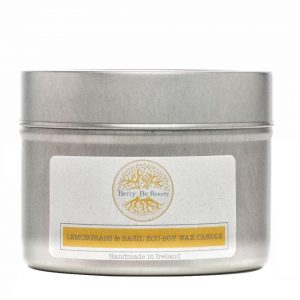Lemongrass & Basil Essential Oil Soy Wax Travel Candle