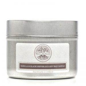 Vanilla & Black Pepper Essential Oil Soy Wax Travel Candle