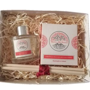 Christmas Spice Candle and Reed Diffuser Gift Set