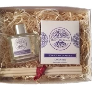 Lavender Essential Oil Candle and Reed Diffuser Gift Set