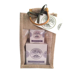Lavender Essential Oil Candle & Lavender Handcream Gift Set