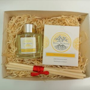 Lemongrass & Basil Essential Oil Candle and Reed Diffuser Gift Set